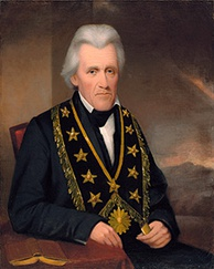 Andrew Jackson as Grand Master of Tennessee, 1822