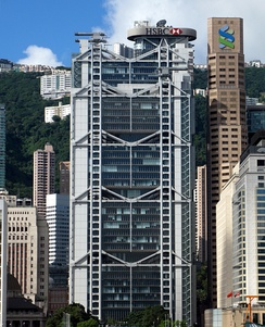 The HSBC Building in Hong Kong. Designed by Foster in the 1980s