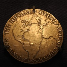 Anne Morrow Lindbergh's customized medal showing her flight route