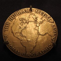 Anne Morrow Lindbergh's customized medal detailing her flight route