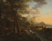 Jan Both, c. 1650, Italian landscape of the type Both began to paint after his return from Rome.