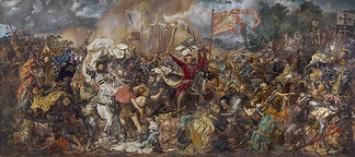 Battle of Grunwald, 1410. Painting by Jan Matejko