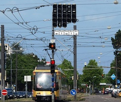 Signals for buses and trams in Karlsruhe, Germany