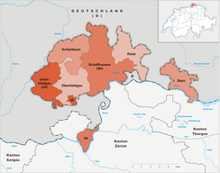 Districts in Canton of Schaffhausen