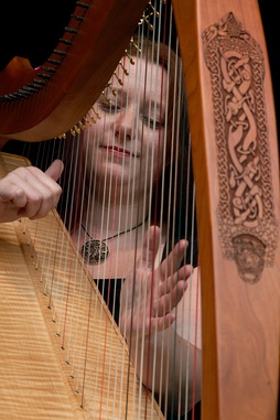 Celtic harp performed at a Celtic festival in 2010