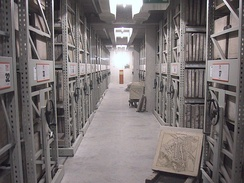 A Munich archive with lithography plates of maps of Bavaria