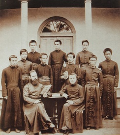 MEP Fathers and Seminarists in Southern Japan in 1881.