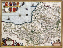 A map of the county in 1646, author unknown
