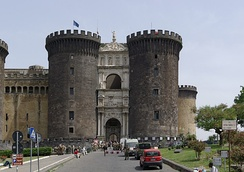 Castel Nuovo, Naples: initiated by the Anjou, it was heavily altered as it served as Spanish headquarters until the 18th century.