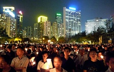 Candlelight vigil on the 20th anniversary of the Tiananmen Square protests
