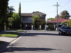 Pin Oak Court, Vermont South, the filming location used to represent the fictional Ramsay Street in Neighbours, Australia's longest running drama television series