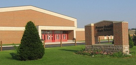 Prairie Heights High School, just off U.S. Route 20 near the Steuben County line.
