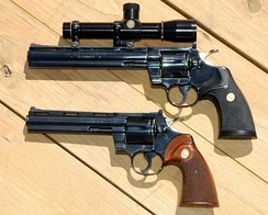 "Colt Pythons in 8"" and 6"" barrels"
