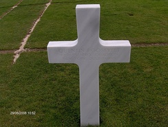 Quentin Roosevelt's grave in the Normandy American Cemetery