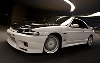 R33 GTS25T spec 2 with a R33 GT-R Bumper and East Bear carbon fibre bonnet