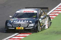 Schumacher driving for Mücke at the DTM round at Brands Hatch in 2008