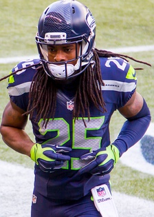 Sherman with the Seahawks in 2015.