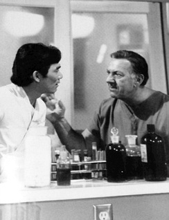 Jack Klugman (right) as Quincy, with co-star Robert Ito as Sam