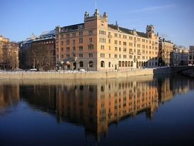 Rosenbad, in central Stockholm, has been the seat of the Government since 1981.[115]