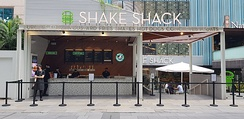 Shake Shack in Orchard Road, Singapore, that includes an outdoor Streetside Shack