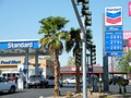 "One of 15 Chevron stations branded as ""Standard"" to protect Chevron's trademark; this one is in Las Vegas, Nevada."