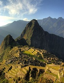 View of Machu Picchu in Peru, built in circa 1450 AD