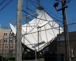 Satellite antennas for the South Brooklyn headend of Charter Communications (formerly Time Warner Cable)