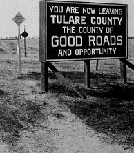 Road sign, 1920