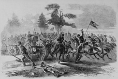 Union Cavalry capture Confederate guns at Culpepper.