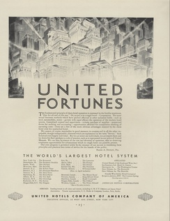 United Hotels Company of America Ad