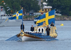 The royal barge Vasaorden, last used at the 2010 royal wedding.