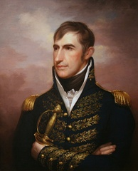 William Henry Harrison as painted by Rembrandt Peale in 1814