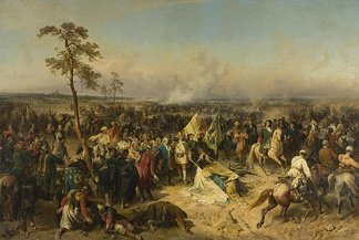 Russian victory at Battle of Poltava
