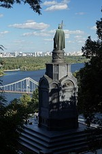Saint Vladimir Monument on Saint Vladimir Hill in Kyiv, near the place of the mass baptism of Kyiv people