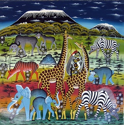 A Tingatinga painting