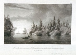 The Second Battle of Cape Finisterre in October 1747.