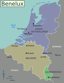 Belgium, the Netherlands and Luxembourg form the Benelux
