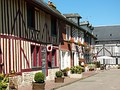 Half-timber houses in Beuvron-en-Auge, one of The Most Beautiful Villages of France