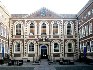 Bluecoat Chambers in Liverpool, of 1717, in a version of the original Queen Anne style