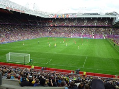 Old Trafford during a match at the 2012 Summer Olympics