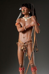 Carib Warrior (Mixed Media Sculpture by artist George S. Stuart)