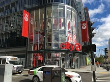 The exterior of the CityTarget in Boston, Massachusetts, now re-branded as Target