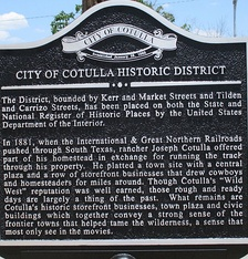 Cotulla Historic District sign downtown (erected 2013)