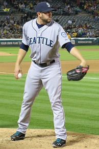 Leone with the Mariners