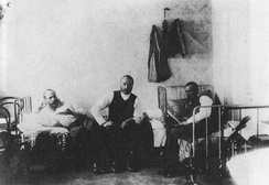 Dostoevsky (left) in the Haymarket, 21/22 March 1874