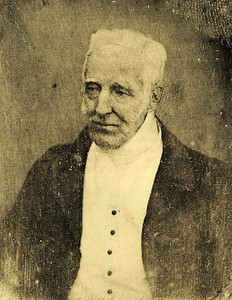 Daguerreotype of Arthur Wellesley, the Duke of Wellington aged 74 or 75, made by Antoine Claudet in 1844.