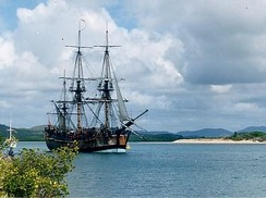 April 13: James Cook arrives in Tahiti on the Endeavour.