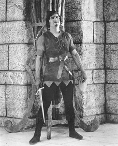 Fairbanks in the title role in Robin Hood (1922)