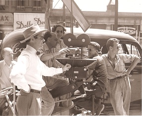 Film crew in the mid 20th century