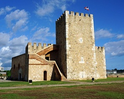 The Ozama Fortress in Santo Domingo, Dominican Republic is recognized by UNESCO for being the oldest military construction of European origin in the Americas.[41]